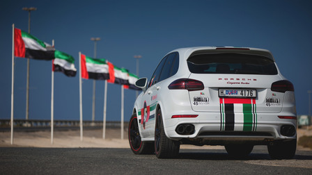Porsche - The Cayenne Turbo embarks on a special road tour across the United Arab Emirates.