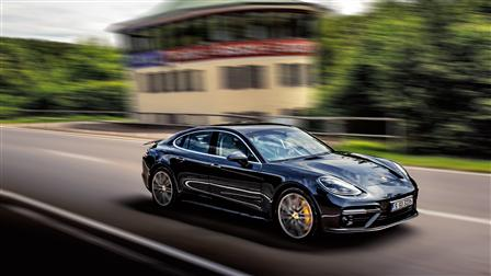 The Porsche Panamera Turbo on the former Solitude racetrack