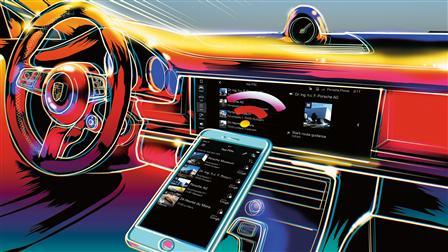 Ilustration Porsche Connect