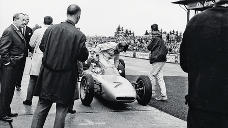 Dan Gurney in a Porsche 804 at the Nürburgring, 1962