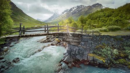 "The mountain pass ""Gamle Strynefjellsvegen"" in Norway"