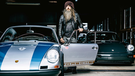 Magnus Walker and his Porsche 911s