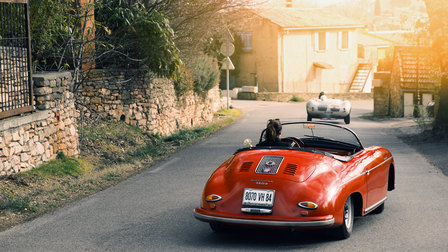 Madame Mathieu in the Porsche 356 Speedster