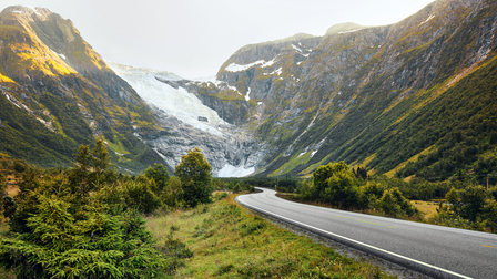 Porsche Road in Norway