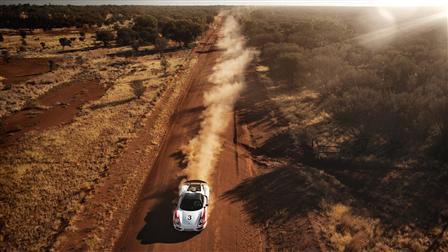 Porsche 918 Spyder, Alice Springs, Australia, Aerial View
