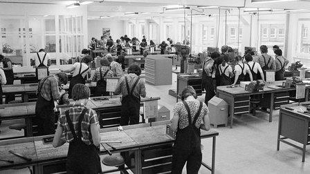 1978: Lehrwerkstatt bei Porsche im Werk 1