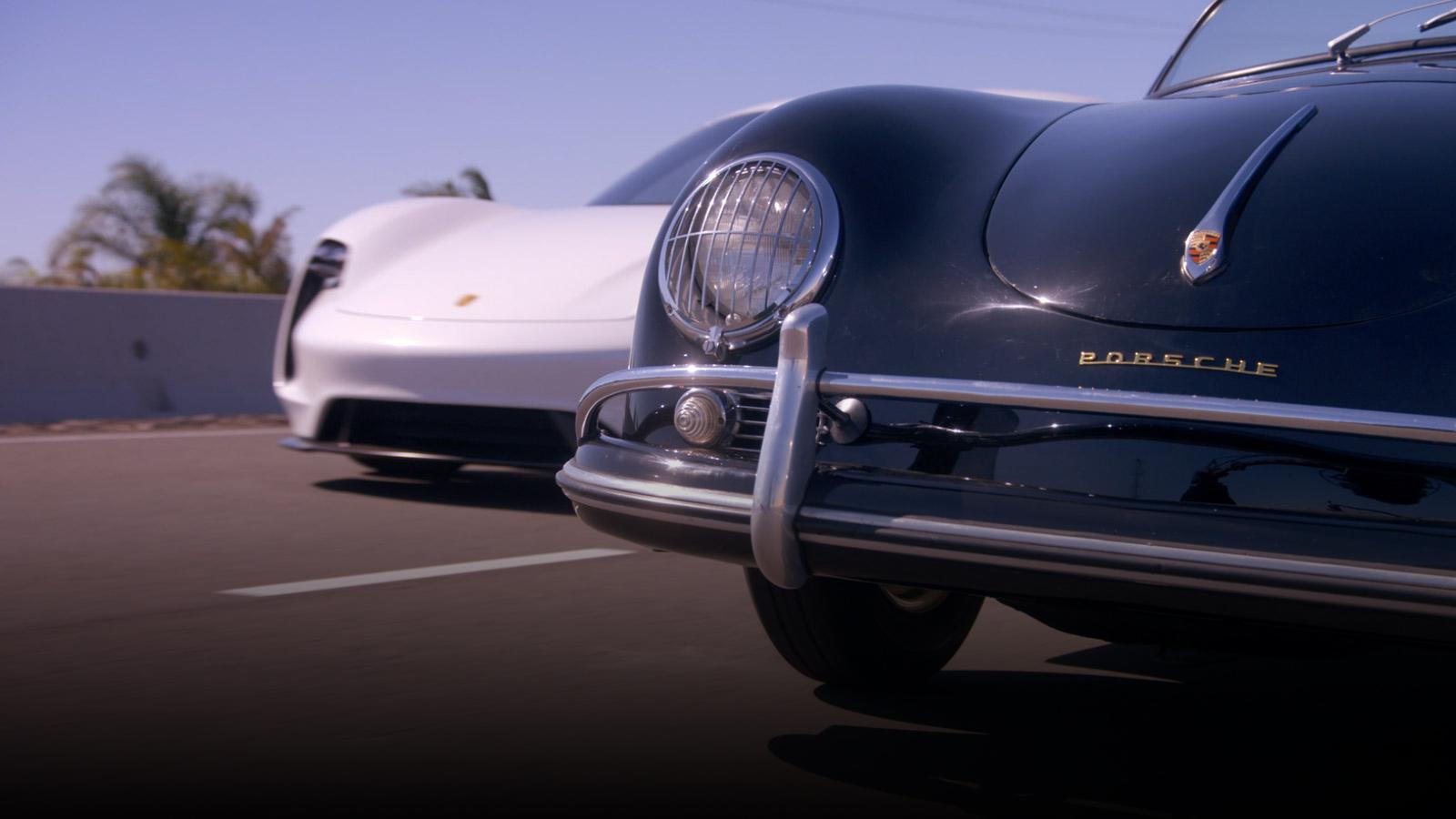 Porsche Adam Levine discovers the new Mission E