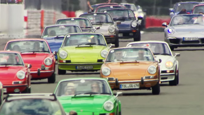 50 years Porsche 911 at the Oldtimer Grand Prix 2013